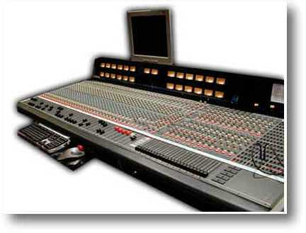 The large frame 72 input Allen and Heath SABER British console
