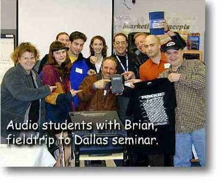 Brian attends a recording seminar with MCC students.....